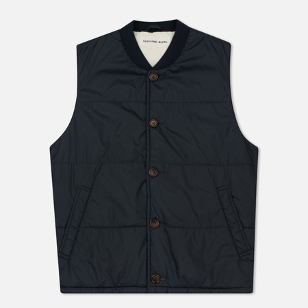 Мужской жилет Universal Works Quilted Italian Nylon Navy