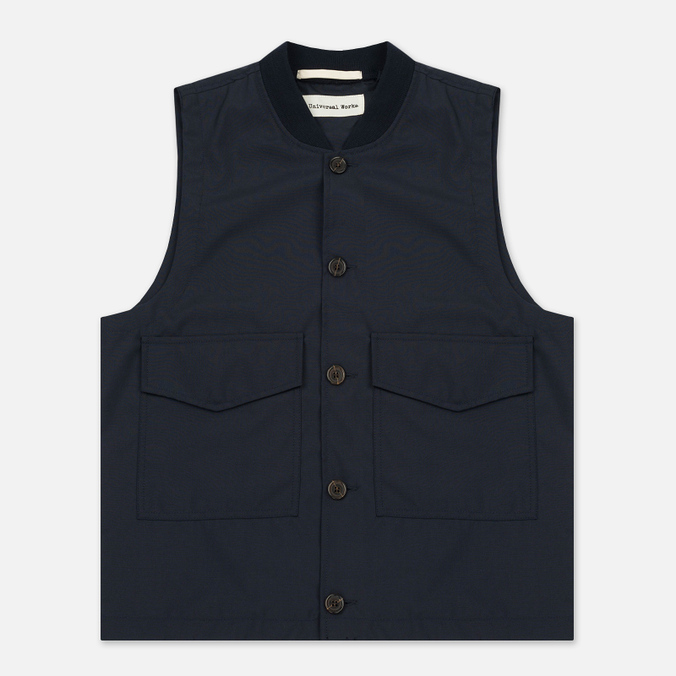Мужской жилет Universal Works Watchman Tropical Wool Navy