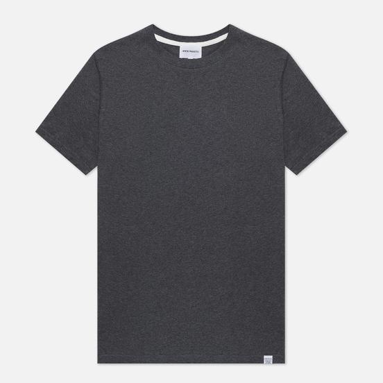 Мужская футболка Norse Projects Niels Standard Charcoal Melange