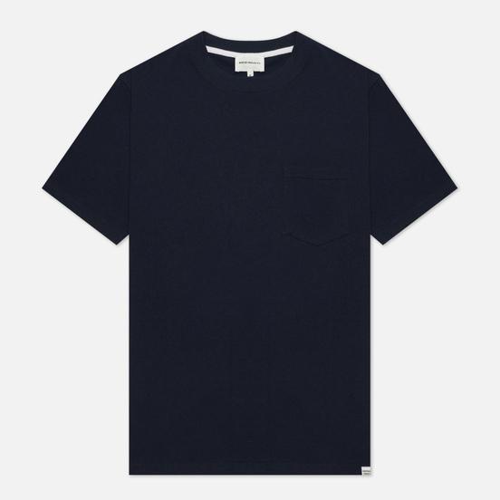 Мужская футболка Norse Projects Johannes Pocket Dark Navy