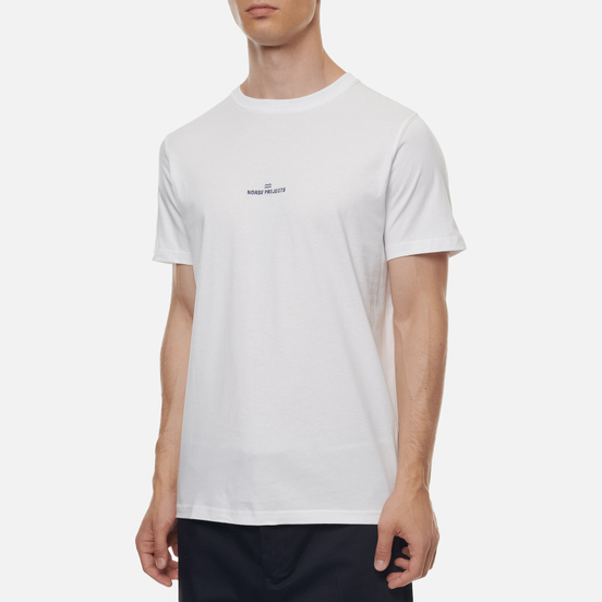 Мужская футболка Norse Projects Niels Norse Projects Wave Logo White