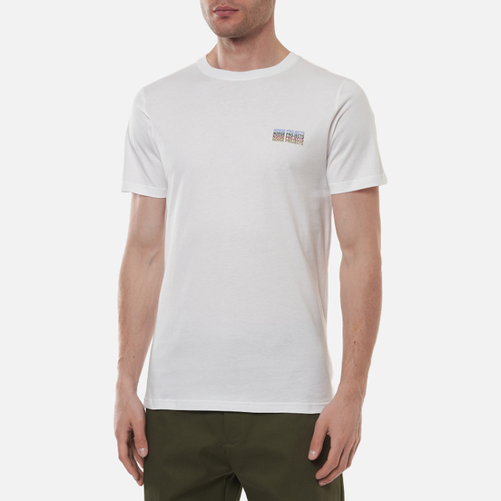 Мужская футболка Norse Projects Niels Logo Stack White