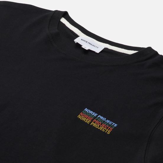 Мужская футболка Norse Projects Niels Logo Stack Black