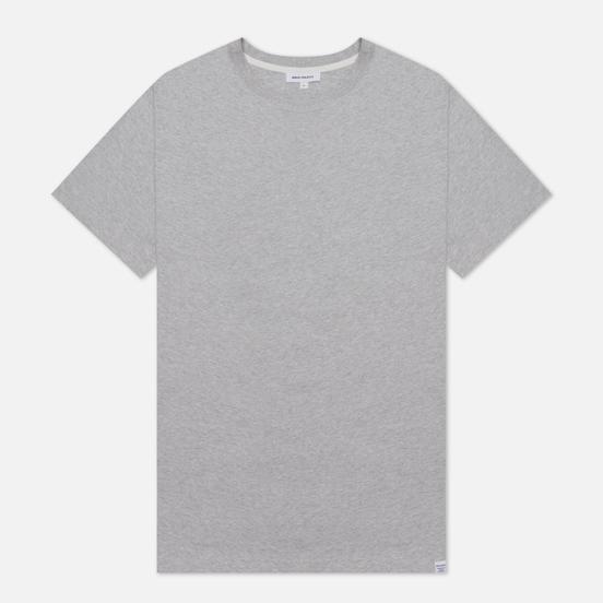 Мужская футболка Norse Projects Niels Standard Regular Fit Light Grey Melange