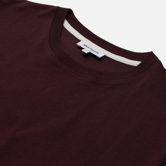 Мужская футболка Norse Projects Niels Standard Regular Fit Cordovan Brown