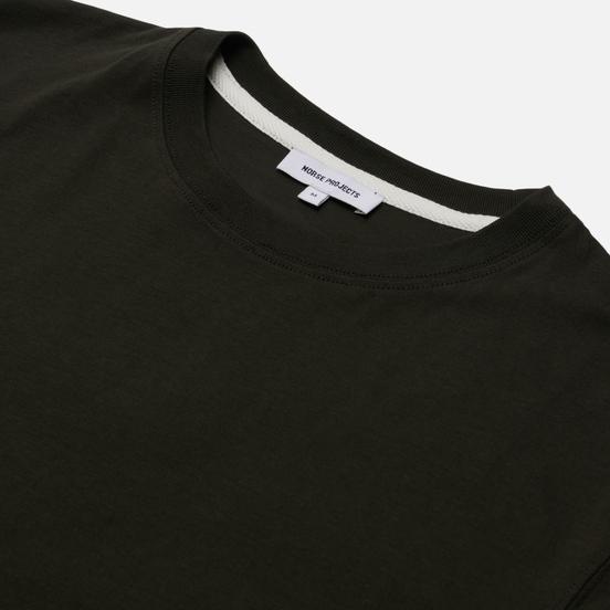 Мужская футболка Norse Projects Niels Standard Regular Fit Beech Green