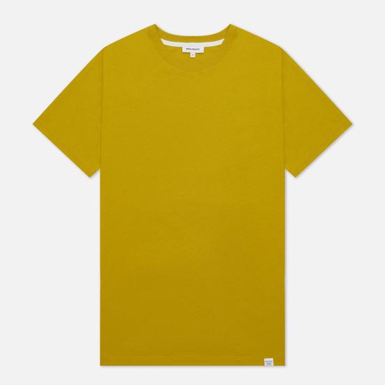 Мужская футболка Norse Projects Niels Standard Regular Fit Brass Yellow