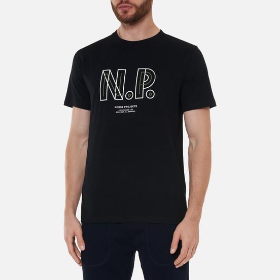 Мужская футболка Norse Projects Niels Teknisk Logo Black