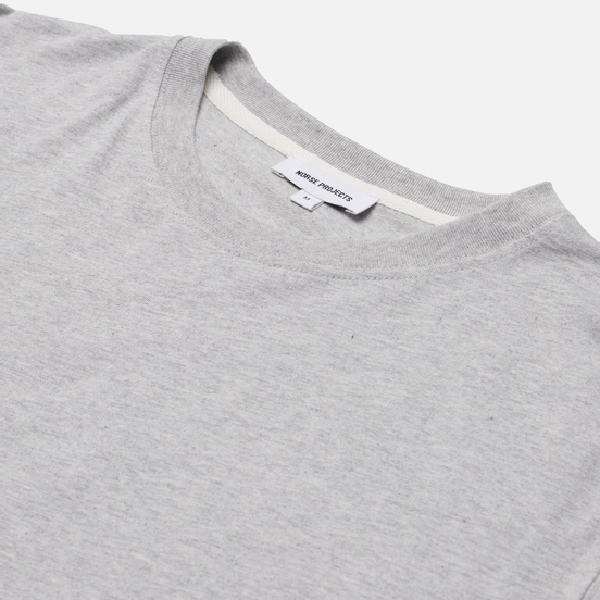 Мужской лонгслив Norse Projects Niels Standard Regular Fit Light Grey Melange