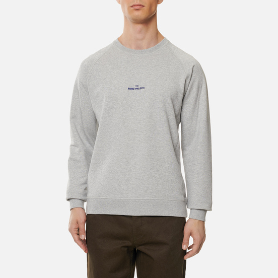 Мужская толстовка Norse Projects Ketel Norse Projects Wave Logo Light Grey Melange