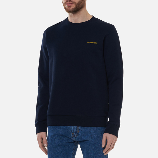 Мужская толстовка Norse Projects Vagn Norse Projects Logo Dark Navy