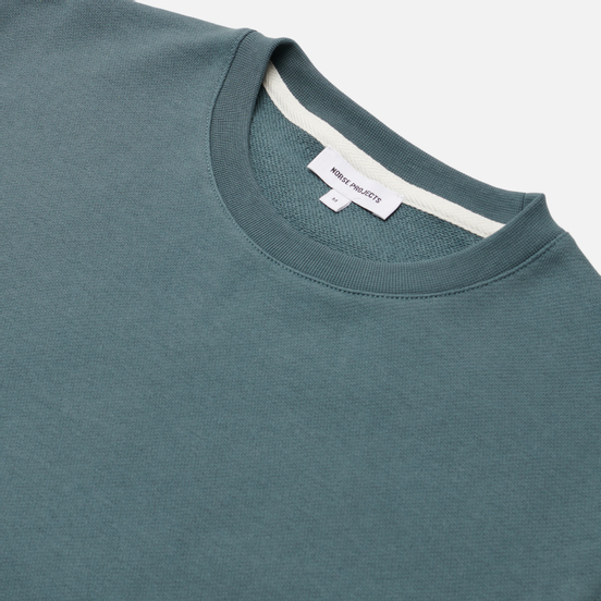 Мужская толстовка Norse Projects Vagn Classic Crew Neck Mineral Blue