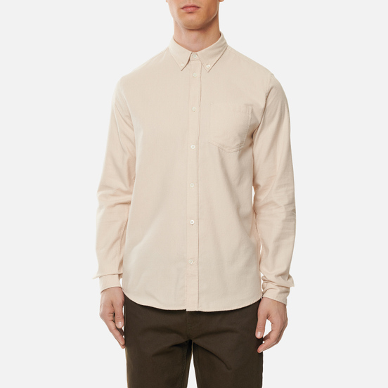 Мужская рубашка Norse Projects Anton Brushed Flannel Oatmeal