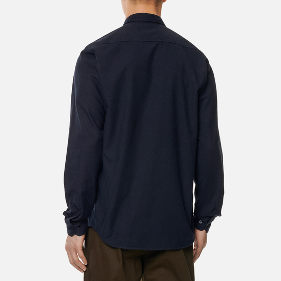 Мужская рубашка Norse Projects Anton Brushed Flannel Dark Navy