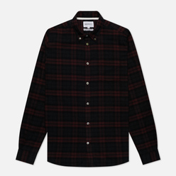 Мужская рубашка Norse Projects Anton Brushed Flannel Check Eggplant Brown