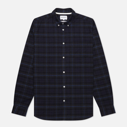 Мужская рубашка Norse Projects Anton Brushed Flannel Check Navy Check