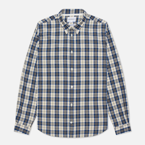 Мужская рубашка Norse Projects Osvald Button Down Light Check Ecru