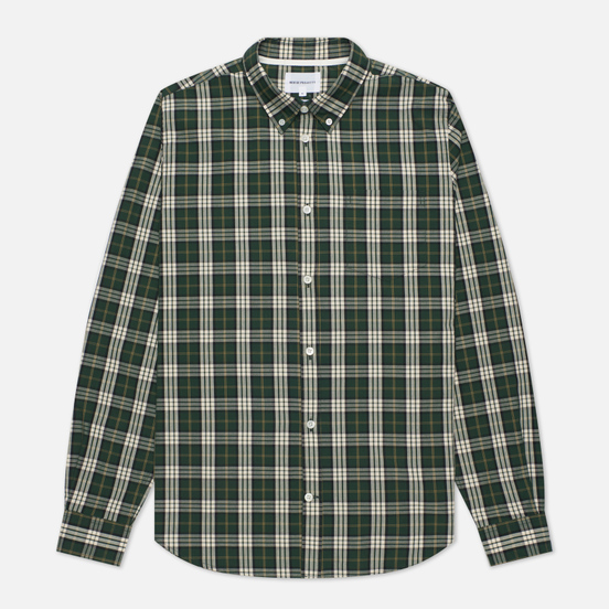 Мужская рубашка Norse Projects Osvald Button Down Light Check Dartmouth Green