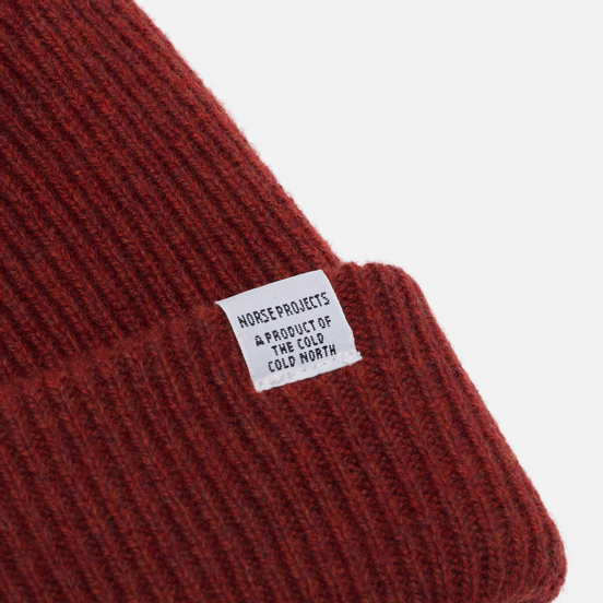 Шапка Norse Projects Norse Beanie Carmine Red