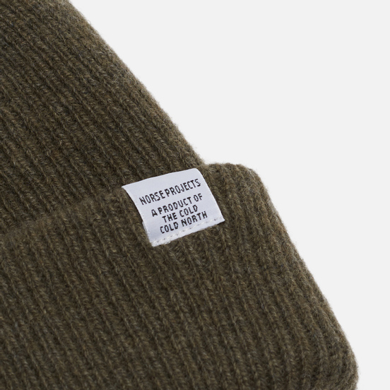Шапка Norse Projects Norse Beanie Ivy Green