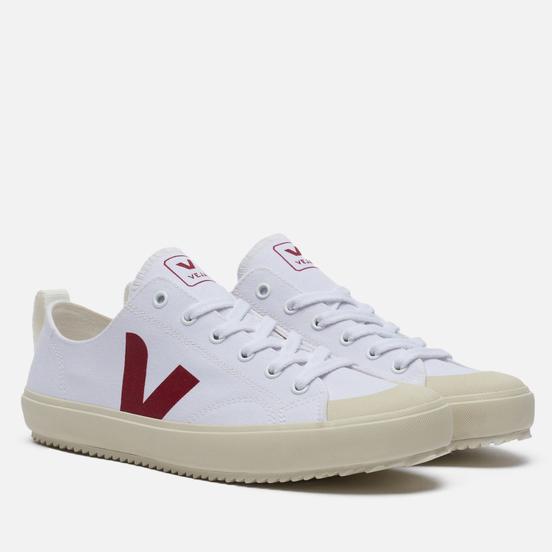 Мужские кроссовки VEJA Nova Canvas White/Marsala