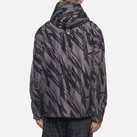 Мужская куртка анорак Napapijri Rainforest Pocket Print Grey/Black