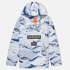 Мужская куртка анорак Napapijri Rainforest Pocket Print Camouflage Ice