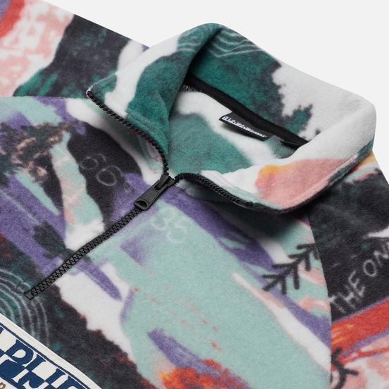 Мужская толстовка Napapijri Revontulet Micro Zip Fleece White/All Over Print