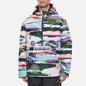 Мужская куртка анорак Napapijri Revontulet All Over Print White/Multi-Color фото - 2