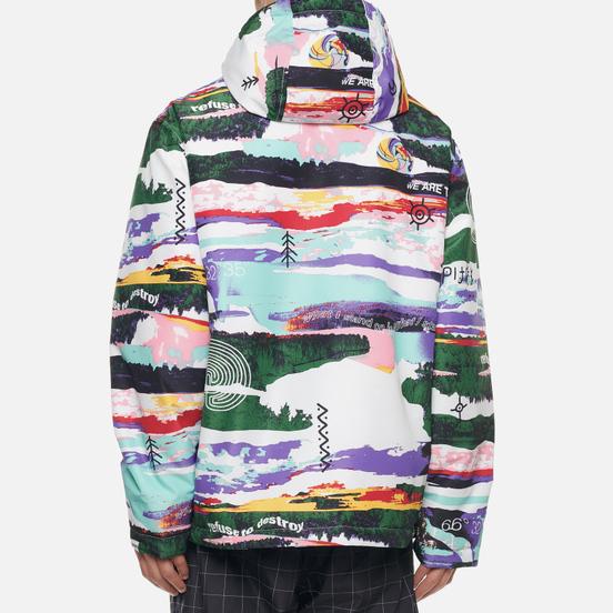 Мужская куртка анорак Napapijri Revontulet All Over Print White/Multi-Color