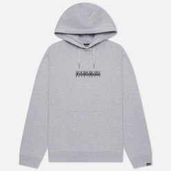 Мужская толстовка Napapijri Box Hoodie Light Grey Melange