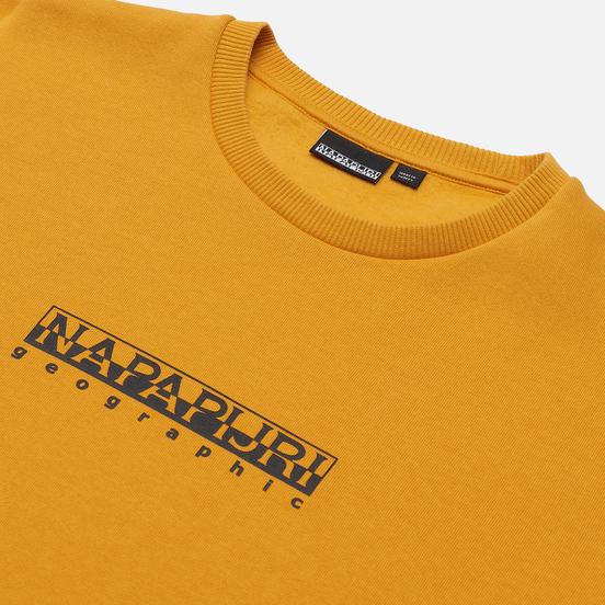 Мужская толстовка Napapijri Box Crew Yellow Solar