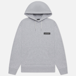 Мужская толстовка Napapijri Patch Hoodie Light Grey Melange