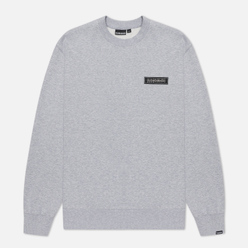 Мужская толстовка Napapijri Patch Crew Light Grey Melange