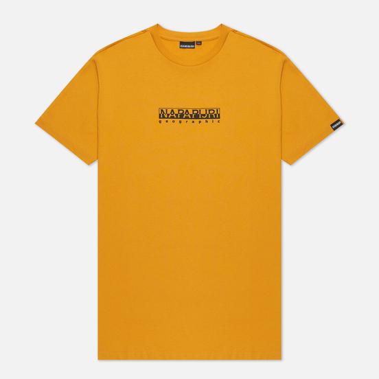 Мужская футболка Napapijri Box Yellow Solar