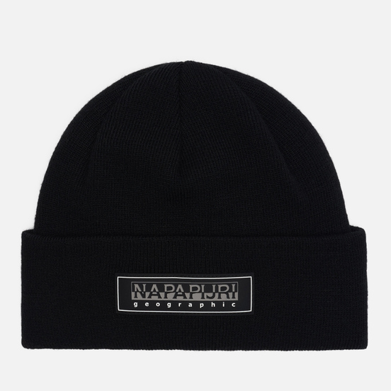 Шапка Napapijri Patch Beanie Black
