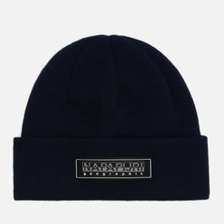 Шапка Napapijri Patch Beanie Blue Nights
