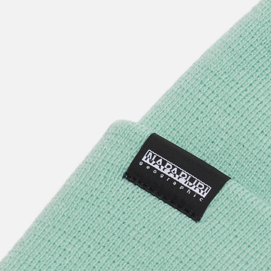 Шапка Napapijri Patch Beanie Green Dusty