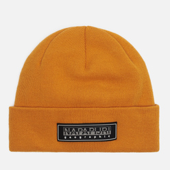 Шапка Napapijri Patch Beanie Yellow Solar
