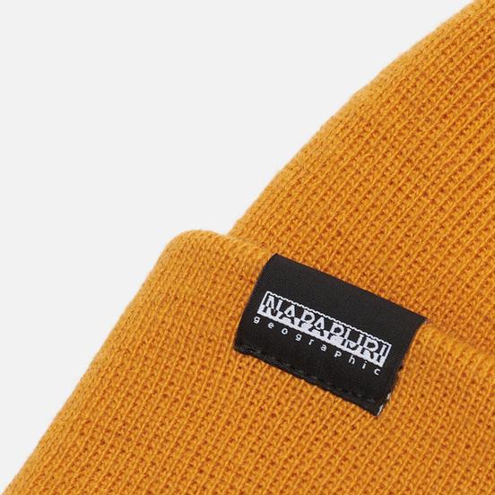 Шапка Napapijri Patch Beanie Yellow Solar