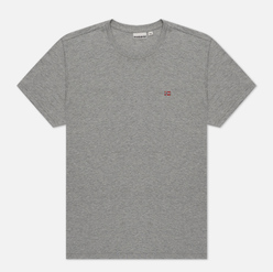 Мужская футболка Napapijri Salis Crew Medium Grey Melange