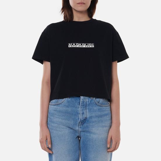 Женская футболка Napapijri Box Cropped Black