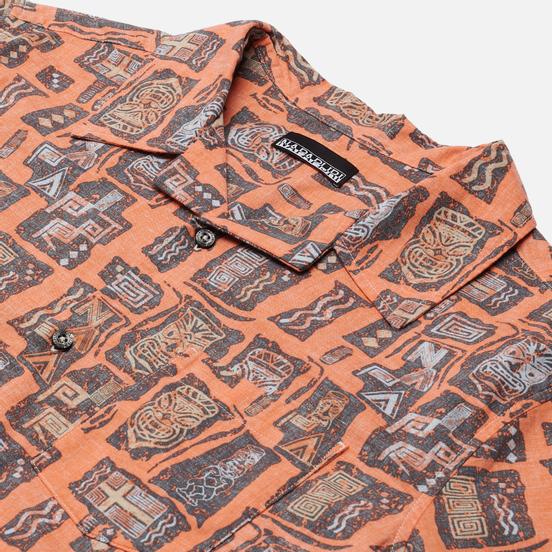 Мужская рубашка Napapijri Napali Orange Mask