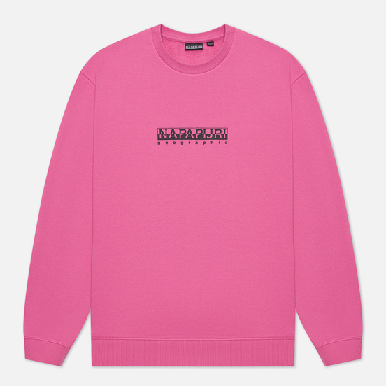 Мужская толстовка Napapijri Box Logo Crew Pink Super