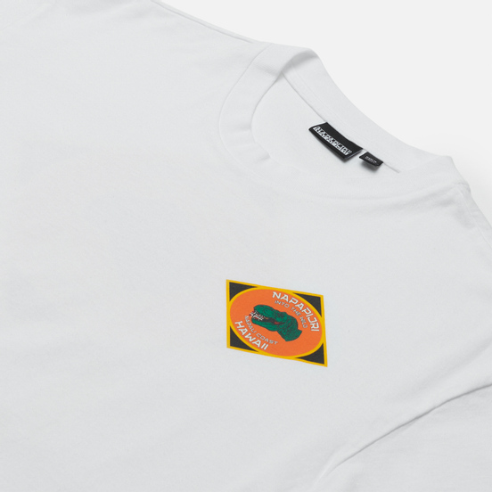 Мужская футболка Napapijri Alhoa Graphics White/Orange/Green