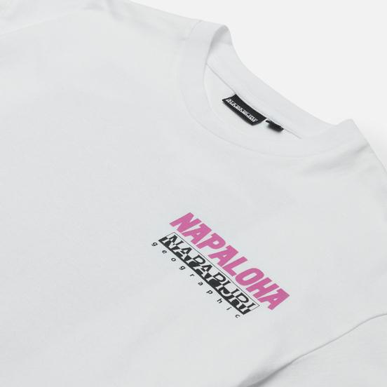 Мужская футболка Napapijri Alhoa Graphics White/Pink