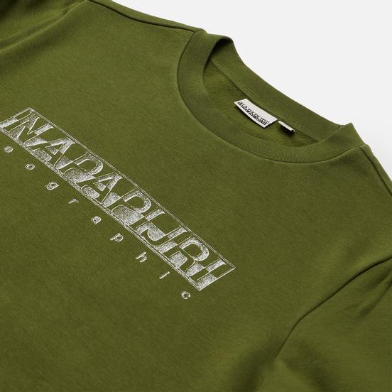 Мужская толстовка Napapijri Ballar Crew Green Cypress