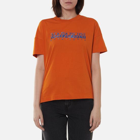 Женская футболка Napapijri Silea Marmalade Orange