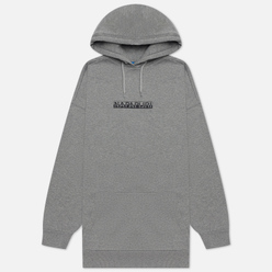 Женская толстовка Napapijri Box Hoodie Medium Grey Melange