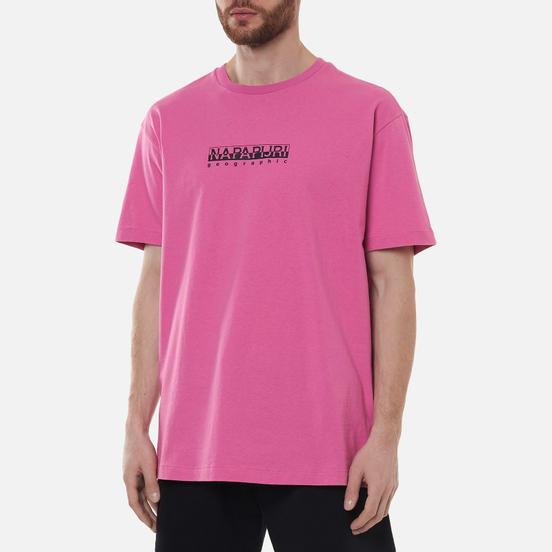 Мужская футболка Napapijri Box Logo Pink Super
